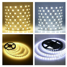 5M 300Leds SMD 5050 Warm Cool White LED Strip Tape Xmas Light Non-Waterproof