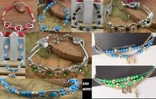 Bead Bracelets Variety of Colors Styles Blue Red Black Elephant Hand USA Shipper