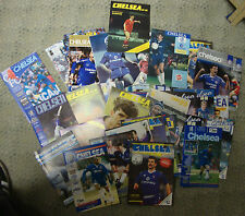 Collection Of Approximately 75 Chelsea Home Football Programmes