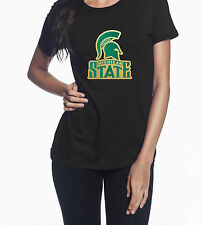 Michigan State Spartans Glitter & Gold Metallic Graphic T-Shirt