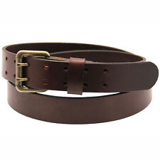 Orion Leather 1 1/2 Sunset Brown Harness Leather Belt Double Hole
