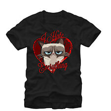 Grumpy Cat I Hate Everything Mens Graphic T Shirt - Fifth Sun