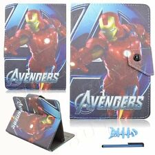 "For 7inch 7.9"" Tab Android Tablet PC Universal Leather Stand Case Cover IRON MAN"