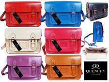 Ladies Womens School Satchel Patent Pvc Leather Girls Bag Classic Retro Bags Q25