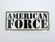 "American Force High Quality Vinyl Decal 8"" x 3.5"" (Multiple Colors)"