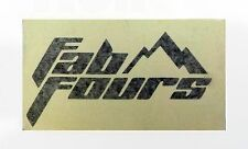 "Fab Fours High Quality Vinyl Decal 8"" x 4"" (Multiple Colors)"