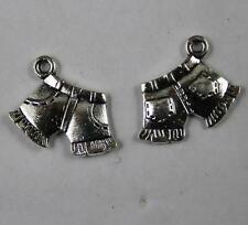 Free shipping 50/200pcs Retro style lovely shorts alloy charms pendants 17x13mm