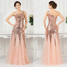 Sexy Long Prom Dress One Shoulder Cocktail Party Formal Bridesmaid Evening Dress