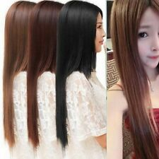 Women Fashion 60cm Long straight Hair Fashion anime Cosplay Party Full Wig Wigs