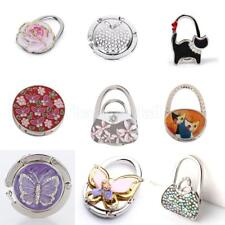 Folding Rhinestone Purse Bag Support Hanger Handbag Table Table Hook Holder Gift