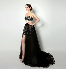 New Arrival Womens Long Party Dress Prom Dress Mesh Low Back Cocktail Dress Gown