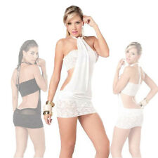New Ladies Sexy Lace Transparent Lingerie Tube-tops Babydoll Dress Sleepwear CN