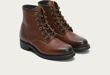 Women's Frye Boots Arkansas Mid Lace Boot Redwood Brown Leather 76866 RDD