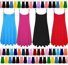 New Plus Size Womens Strappy Sleeveless Ladies Swing Cami Vest Top 6 – 26 CamiLn
