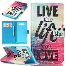 cell phone leather case mobile phone wallet cover stand flip cover hot cartoon