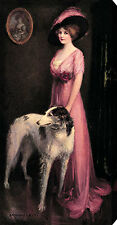 High Society by J. Knowles Hare (Stretched Canvas Print of Vintage Art)