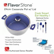 Danoz Flavorstone 24cm Casserole Pan + Warranty✓ Authentic✓ As Seen on TV✓