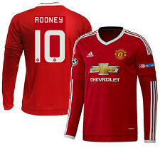 ADIDAS W. ROONEY MANCHESTER UNITED LS UEFA CHAMPIONS LEAGUE HOME JERSEY 2015/16