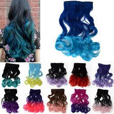 Sexy Gradient Long Wavy Curly Long Hair Clip in Synthetic Hair Extensions Wigs