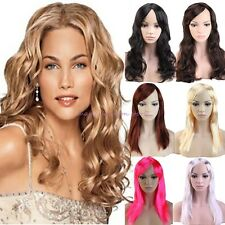 UK Sell Long Straight Curly Full Wig Cosplay Party Fancy Dress Black Blonde S27