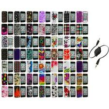 Design Color Hard Snap-On Skin Case Accessory+Aux Cable for iPhone 4 4G 4S