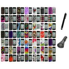 Design Color Hard Snap-On Skin Case Accessory+Charger+Pen for iPhone 4 4G 4S