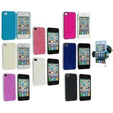 Bling Glitter Ultra Thin Hard Back Case Cover+Windshield Mount for iPhone 4 4G