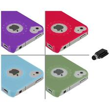 Heart Love Pattern Ultra Thin Hard Case Cover+Dock Stylus for iPhone 4 4G 4S