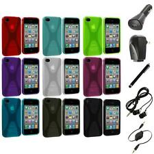 X-Line TPU Rubber Skin Case Cover+Accessories for iPhone 4 4S 4G Accessory
