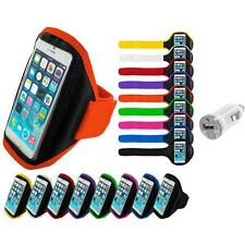 For Apple iPhone 6 (4.7) Gym Sport Running Armband Case Cover USB Charger