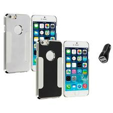 For Apple iPhone 6 (4.7) Brushed Aluminum Metal Hard Case Cover 2.1A Charger