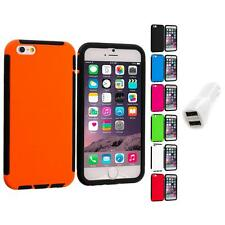For Apple iPhone 6 (4.7) Hybrid Case Cover Screen Protector Car Charger