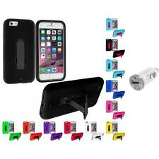 For Apple iPhone 6 (4.7) Hybrid Impact Case Cover Accessory USB Charger