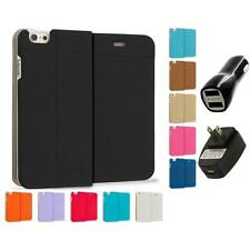 For Apple iPhone 6 (4.7) Slim Wallet Dots Case Cover Accessory 2X 2A Chargers