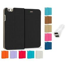 For Apple iPhone 6 (4.7) Slim Wallet Dots Case Cover Accessory Car Charger