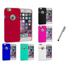 For iPhone 6 Plus (5.5) Hard Deluxe Chrome Rear Slim Case Cover Stylus Plug