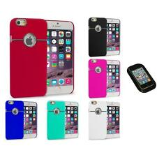For iPhone 6 Plus (5.5) Hard Deluxe Chrome Rear Slim Case Cover Sticky Pad