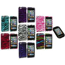 Zebra Design Hard Case Cover Accessory+Sticky Pad for iPod Touch 4th Gen 4G 4
