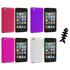 Color Bling Glitter Hard Cover Case+Cable Wrap for iPod Touch 4th Gen 4G