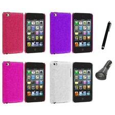 Color Bling Glitter Hard Cover Case+Charger+Pen for iPod Touch 4th Gen 4G