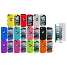 Deluxe Hybrid 3-Piece Case+Protector+3X LCD Protector for iPod Touch 5th Gen 5G