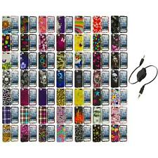 Design Hard Snap-On Rubberized Case Cover+Aux Cable for iPod Touch 5th Gen 5G