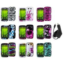 Design Hard Case Cover Accessory+Charger for Blackberry Torch 9850 9860