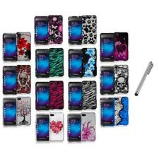 Design Hard Snap-On Rubberized Case Cover+Metal Pen for Blackberry Z10 Phone