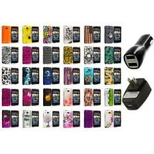 For HTC Desire 601 Zara Hard Design Case Cover 2X 2A Chargers
