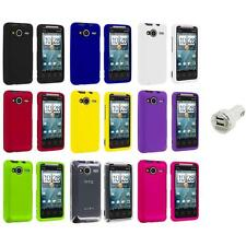 Color Hard Snap-On Case Cover+Dual Charger for HTC EVO Shift 4G Phone Accessory