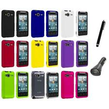 Color Hard Snap-On Case Cover+Charger+Pen for HTC EVO Shift 4G Phone Accessory