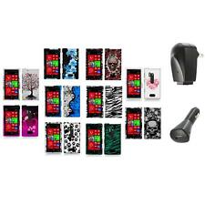 For Nokia Lumia 928 Color Hard Design Rubberized Skin Case Cover+2X Chargers
