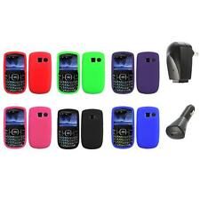 Color Silicone Rubber Gel Case Cover+2X Chargers for Pantech Link II 2 P5000