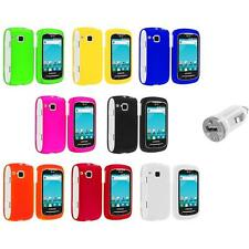 Color Hard Snap-On Skin Case Cover+USB Charger for Samsung Doubletime I857 Phone